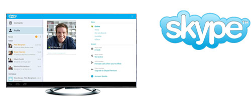 Himedia Q5 IV dễ dang kết nối với bạn bè bằng skype