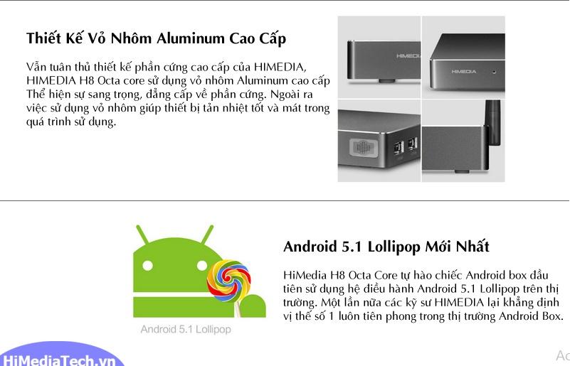 Himedia H8 / 16GB / Octa-Core 64bit / 2GB hình 2