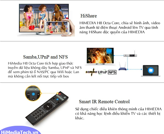 Android TV box Himedia H8 Octa Core Hishare