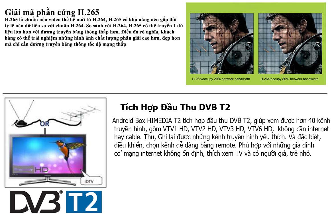Andrioid TV Box Himedia T2 chơi 4K2K UHD