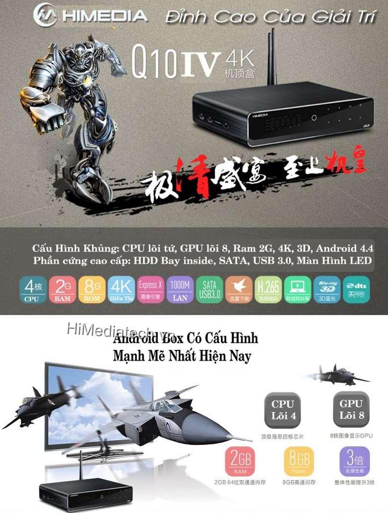 Android TV box Q10- Đỉnh cao giải trí