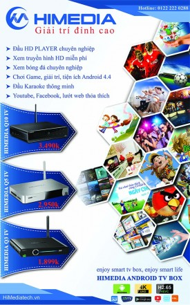 HiMedia Q10 IV Android Box Kiêm Đầu Phát HD Đáng Mua Nhất 2015 (Theo Đánh Giá Tạp Chí Nghe Nhìn 4-2015)
